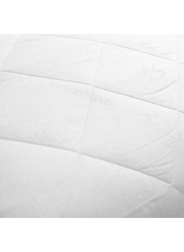 Chakra Bambu Yastık Beyaz Beyaz